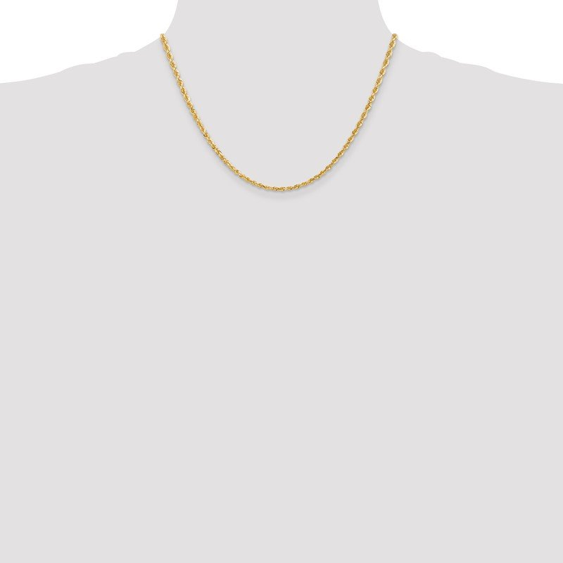 Quality Gold 10k 3mm D/C Quadruple Rope Chain