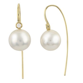 14K Yellow Gold Freshwater Pearl Earring