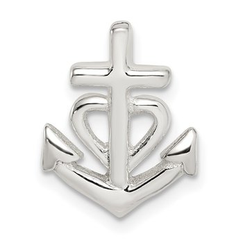 Sterling Silver Polished Anchor Pendant