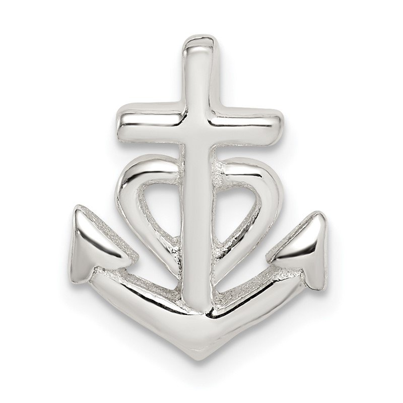 Quality Gold Sterling Silver Polished Anchor Pendant