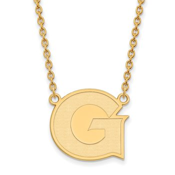 Gold-Plated Sterling Silver Georgetown University NCAA Necklace