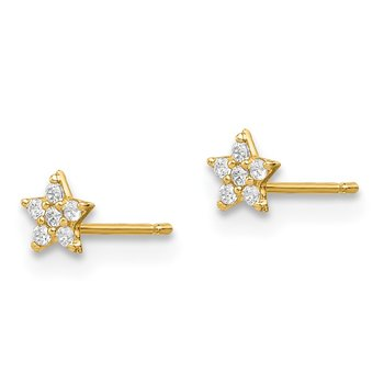 14k Madi K Star CZ Post Earrings