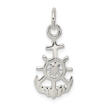 Sterling Silver Polished Nautical Charm