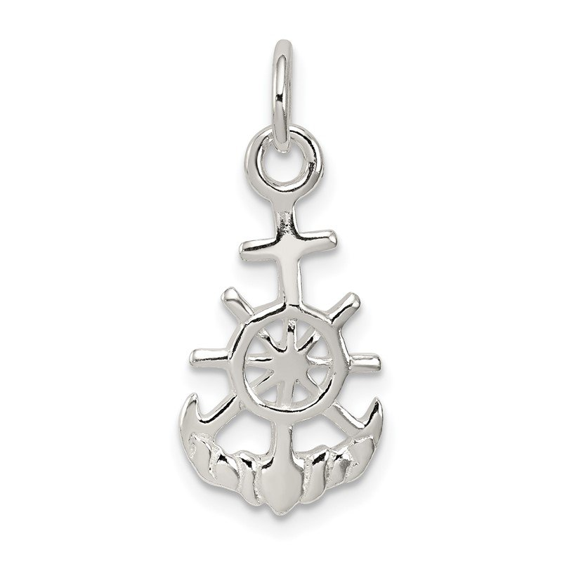 Quality Gold Sterling Silver Polished Nautical Charm