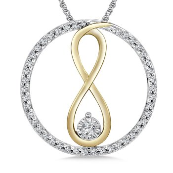Diamond Pendant in 14K White/Yellow Gold (.20 ct. tw.)