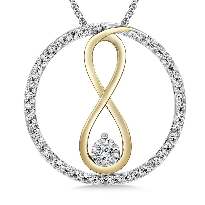SDC Creations Diamond Pendant in 14K White/Yellow Gold (.20 ct. tw.)