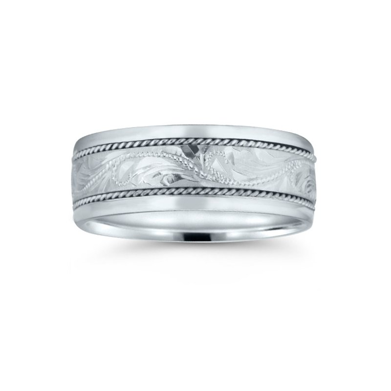 Novell Mens Hand-engraved Wedding Band