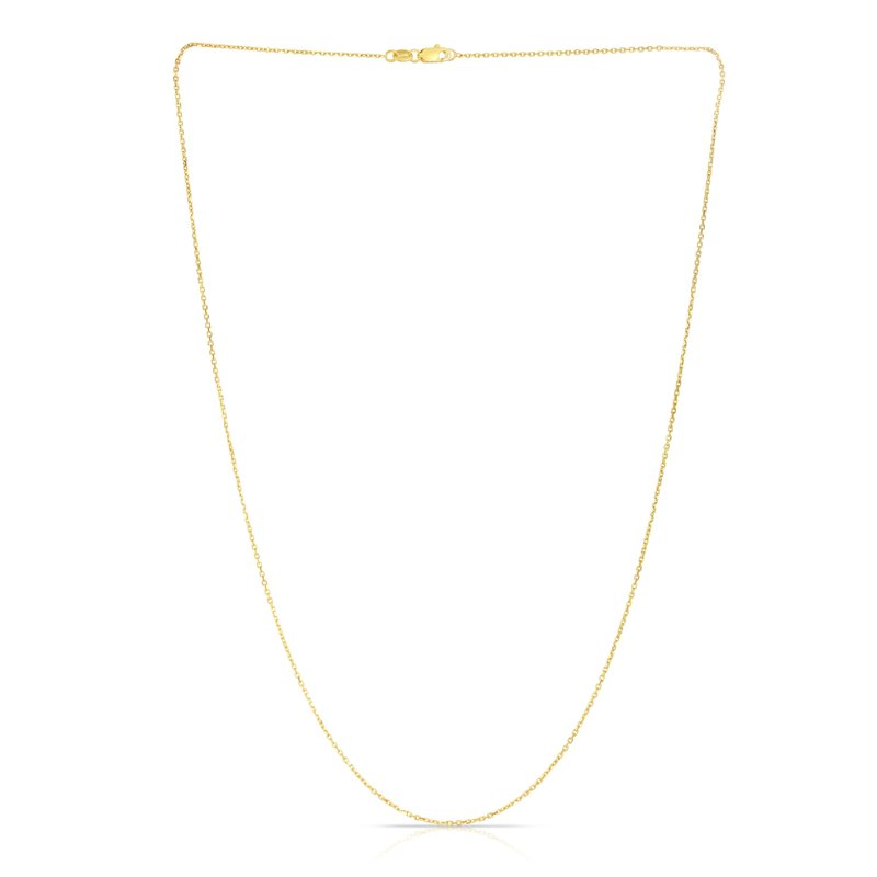 Royal Chain 14K Gold .8mm Diamond Cut Cable Chain