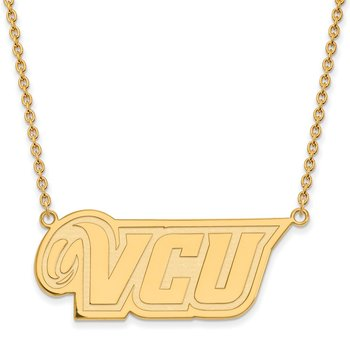 Gold-Plated Sterling Silver Virginia Commonwealth University NCAA Necklace