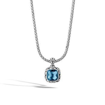 Magic Cut Pendant Necklace with London Blue Topaz