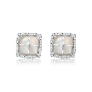 Square Iridescent Earrings
