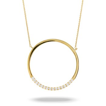 Diamond Circle Necklace 18KY
