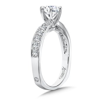 Classic Elegance Collection Criss Cross Diamond Engagement Ring in 14K White Gold with Platinum Head (3/4ct. tw.)