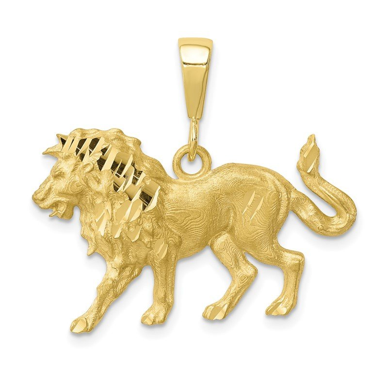 Quality Gold 10k Lion Charm