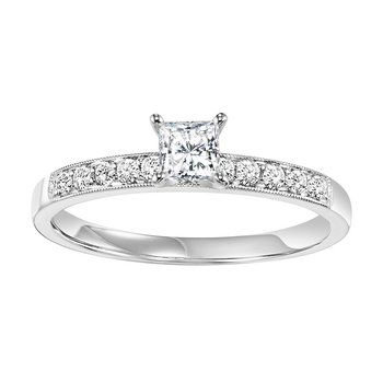 14K Diamond Engagement Ring 1/2 ctw Complete