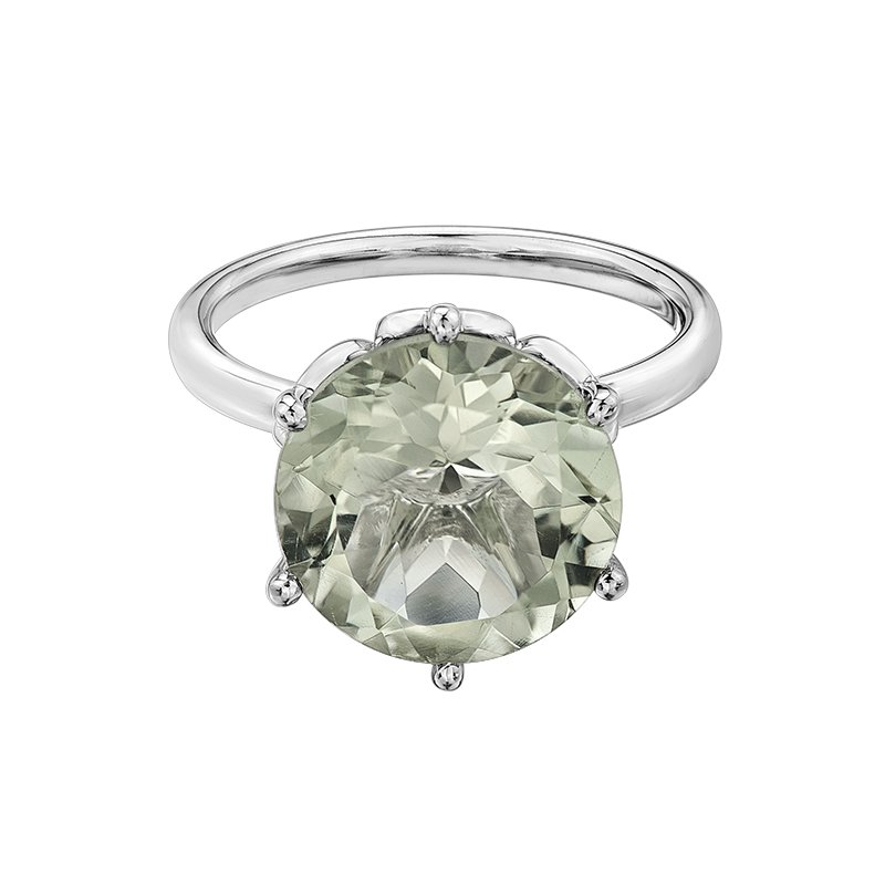 Diamond Days Green Amethyst Ladies Ring