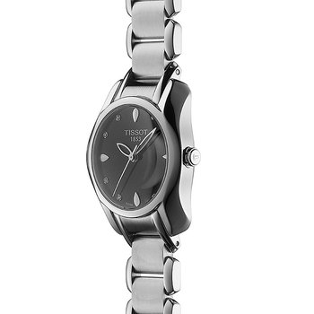 T-Wave Round Women's Black Diamonds Quartz Trend Watch