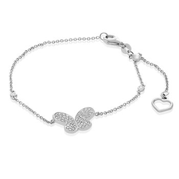 White Gold Butterfly Bracelet
