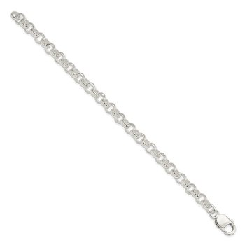 Sterling Silver 7.5inch Fancy Link Bracelet