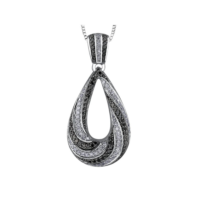 Timeless Beauty Enhanced Black Diamond Pendant