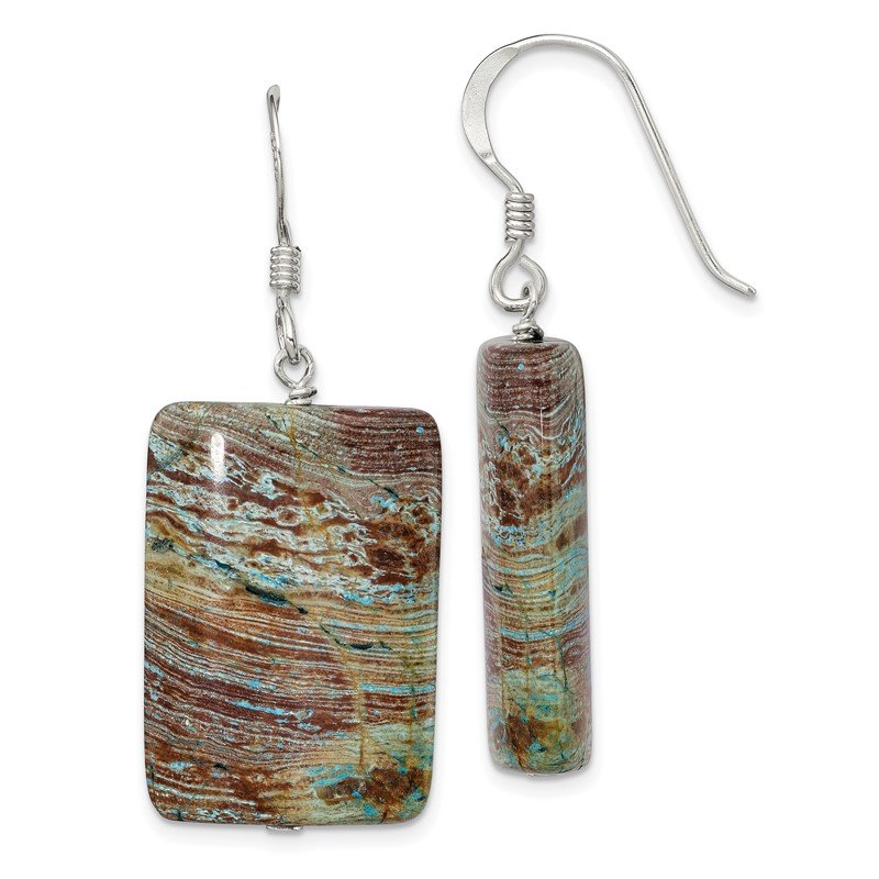 Quality Gold Sterling Silver Jasper Earrings