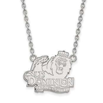 Sterling Silver Old Dominion University NCAA Necklace