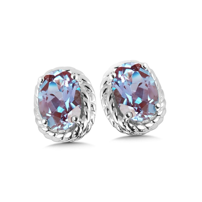 SDC Creations Created Alexandrite Earrings in Sterling Silver