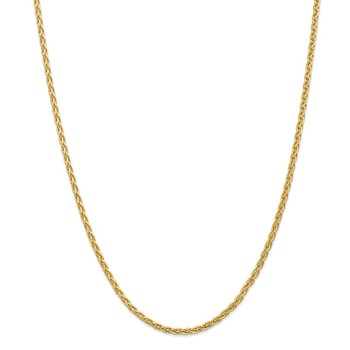 14k 3mm Parisian Wheat Chain