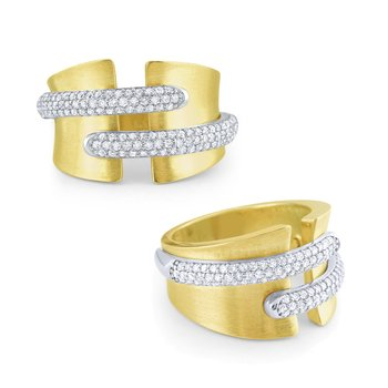 14k Gold and Diamond Contemporary Ring