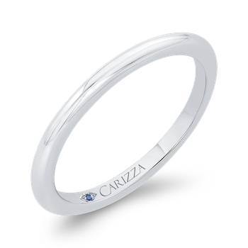 18K White Gold Plain Wedding Band