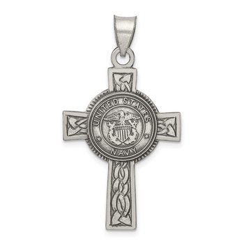 Sterling Silver US Navy Cross Pendant