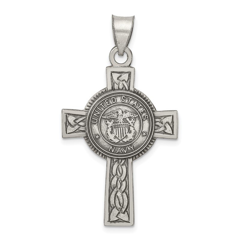 Quality Gold Sterling Silver US Navy Cross Pendant