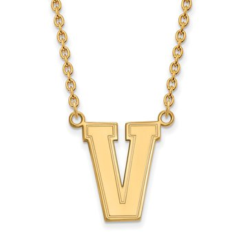 Gold Vanderbilt University NCAA Necklace