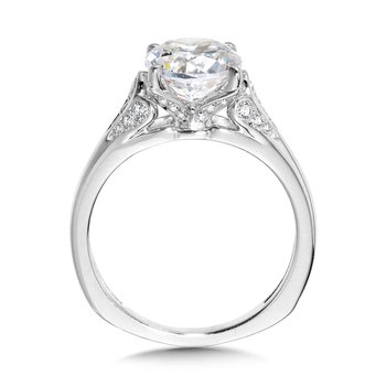 Tapered Diamond Engagement Ring