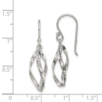Sterling Silver Crystal Shepherd Hook Earrings
