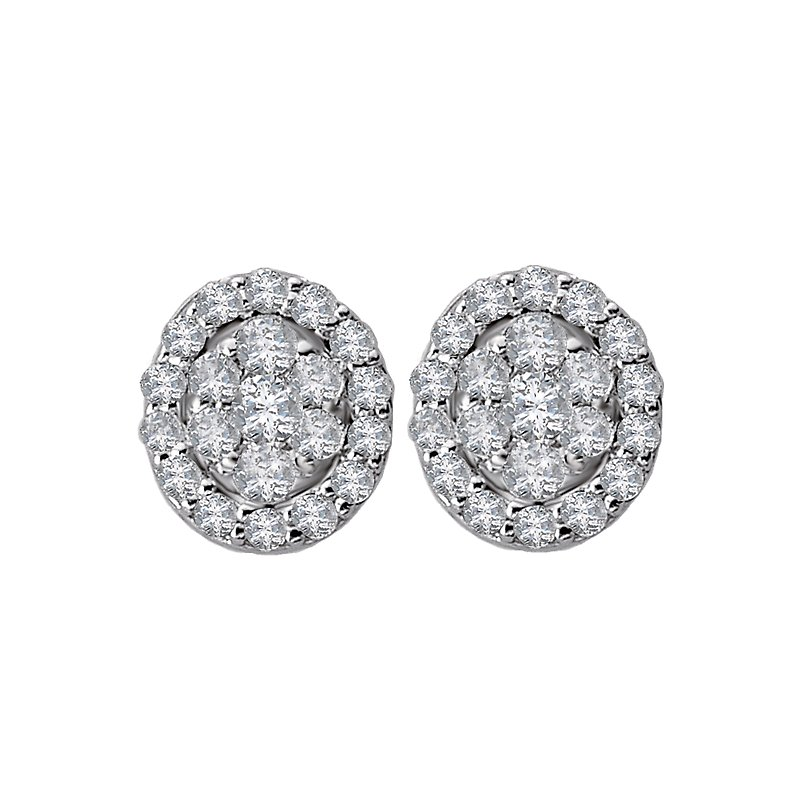 Radiance Diamond Stud Earrings
