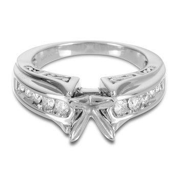 18K WG Diamond Semi Mount Ring