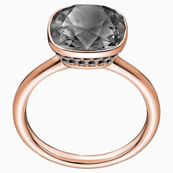 Lattitude Cocktail Ring, Gray, Rose-gold tone plated