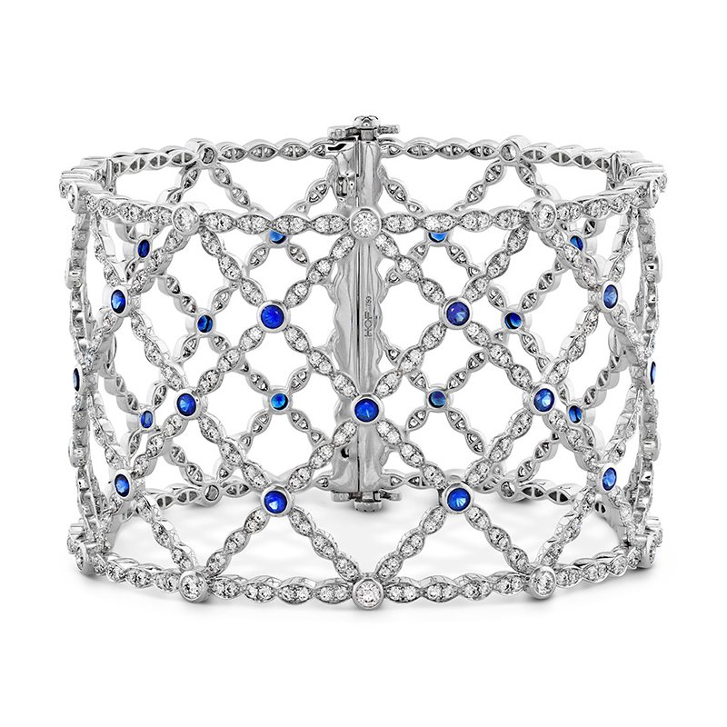 Hearts on Fire Lorelei Lattice Dia Sapphire Bangle