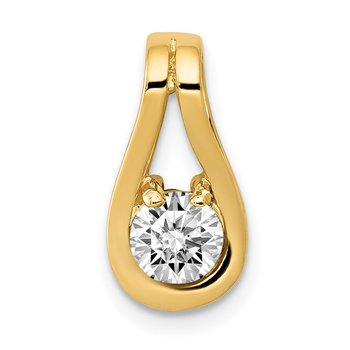 14k 4.7mm AA Diamond Teardrop Shape Slide Pendant