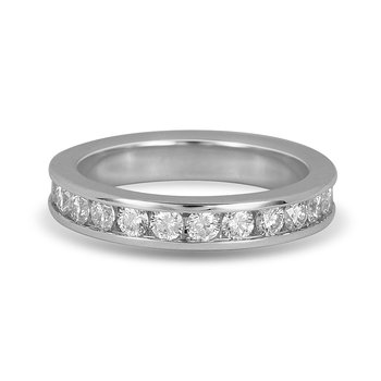 Platinum and  Diamond Eternity Ring in Channel Setting 1.50 Cts