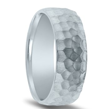 N17198 - Men's Wedding Band with Organic Finish