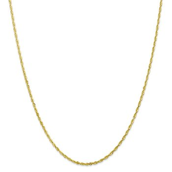 Leslie's 10K 2.00mm Diamond-Cut Lightweight Rope Chain