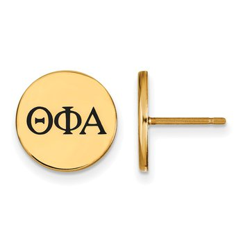 Gold-Plated Sterling Silver Theta Phi Alpha Greek Life Earrings