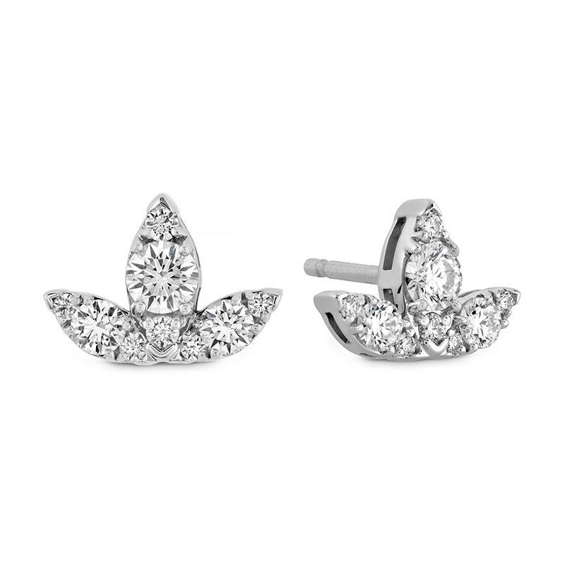 Hearts on Fire 0.6 ctw. Aerial Triple Diamond Stud Earrings - S