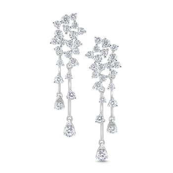 14k Gold and Diamond Fashion Earrings