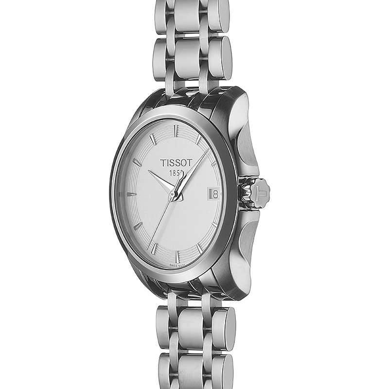 Tissot Couturier Ladies White Quartz Watch