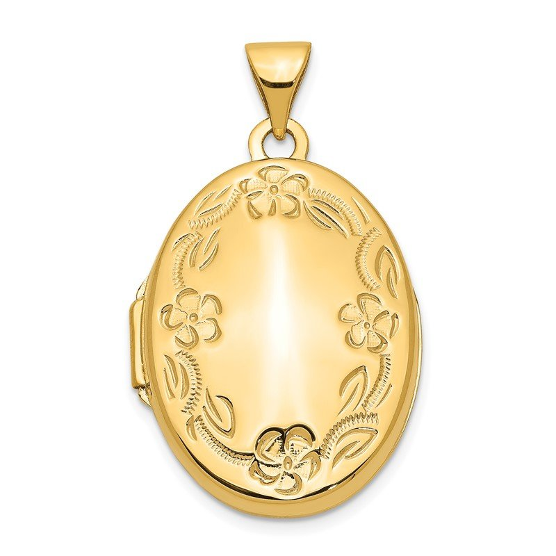 Quality Gold 14k Hand Engraved Locket