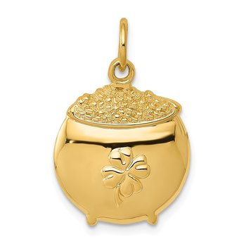 14k Pot of Gold Charm