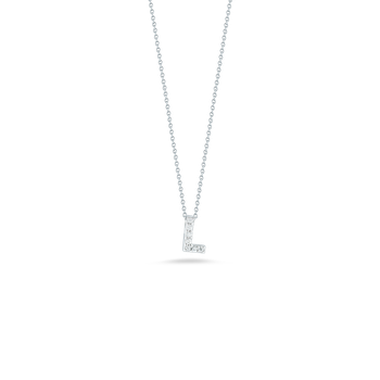 18KT GOLD LOVE LETTER L PENDANT WITH DIAMONDS